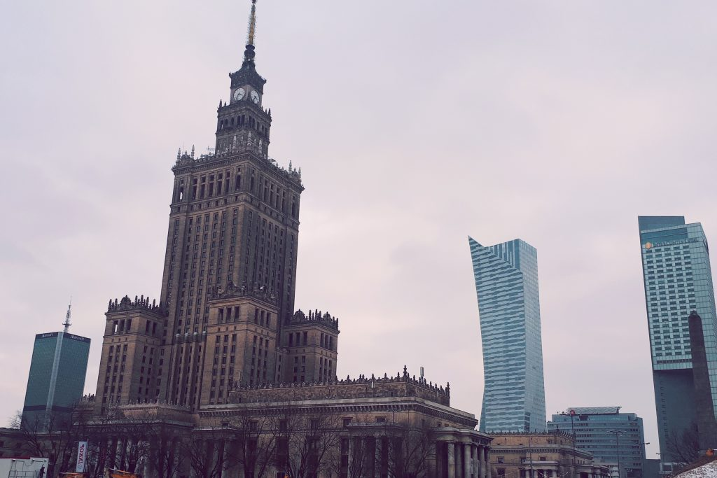 one day in warsaw, palace of culture and science