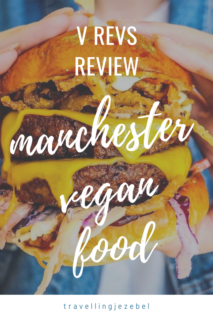 Manchester Vegan Food Review - V Rev Manchester. Here is my unbiased review of V Rev Vegan Diner in Manchester! Burgers, hot dogs, Mac and Cheez and loaded fries, let's gooo! #veganfood #vegan #veganfoodmcr #manchesterveganfood #veganrestaurantmanchester