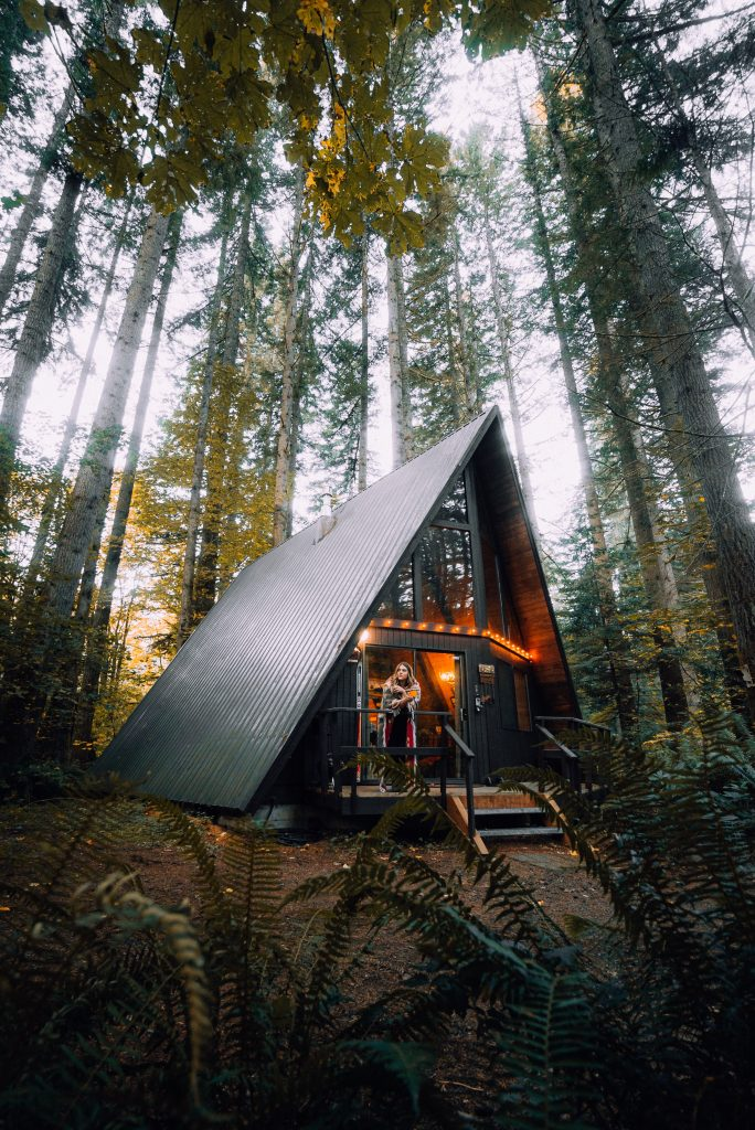 hygge cabin in the woods