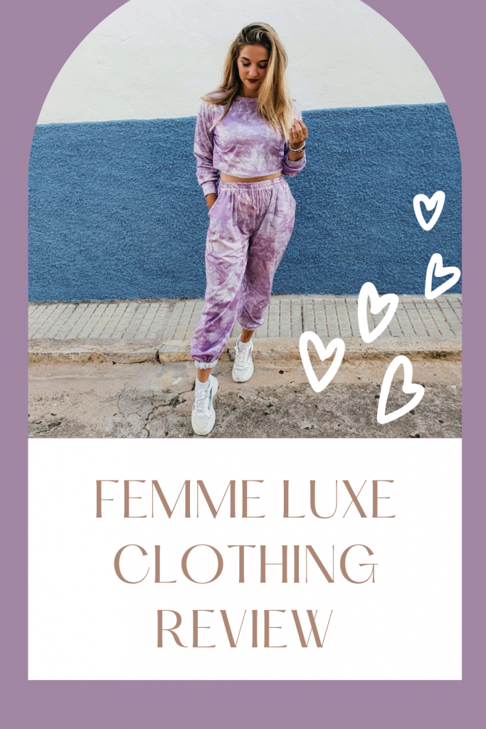 Femme Luxe Clothing Review. Femme Luxe are a fashion brand based in my home city of Manchester in the UK. They are a typical fast-fashion brand, similar to the likes of Boohoo, and their clothes are cute, affordable, and delivered quickly (with the option of next day delivery for the impatient ones among you). They specialise in loungewear and 'going out clothes,' and while many of their clothes are not my usual style, I do always find some cute things on their website. Here's my Femme Luxe review.