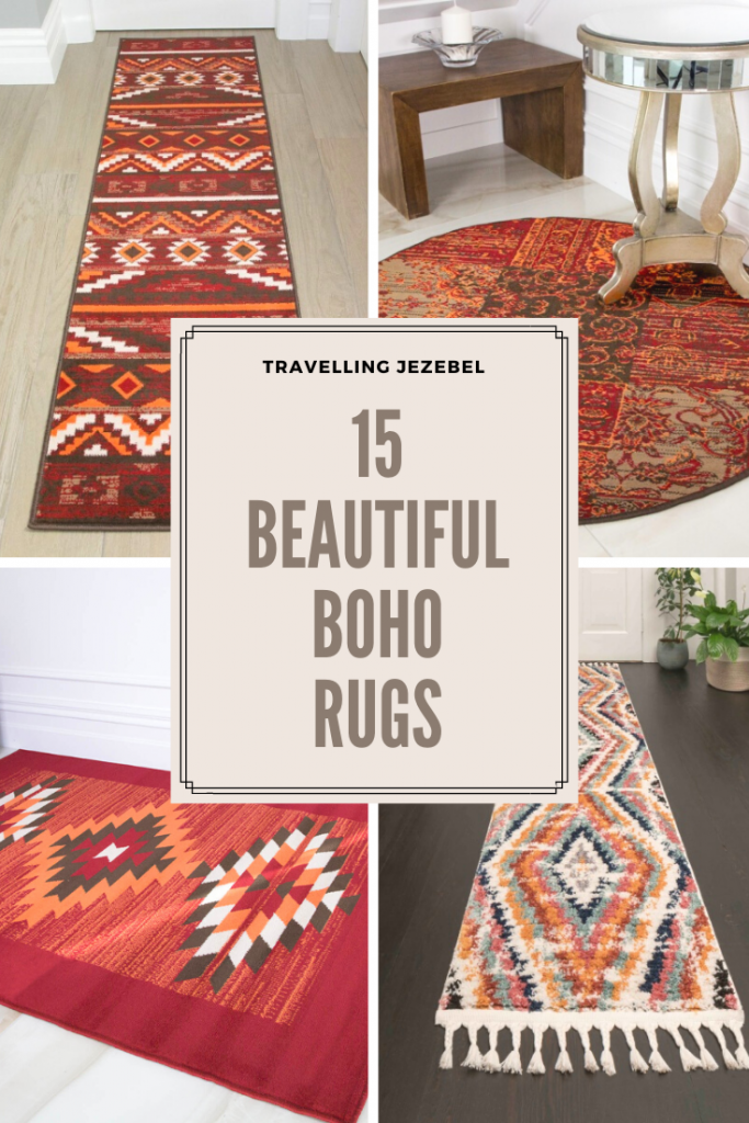 15 Boho Rugs to Breathe Life Into Your Living Space - With their rich colours, unique patterns and effortless style, boho rugs add a touch of worldliness and eccentricity to even the sparsest of rooms. Different types of boho rugs include kilim rugs, Beni Ourain rugs, vintage-style rugs, shag rugs and natural woven rugs. #bohorugs #bohohome #bohointerior #homeinspo