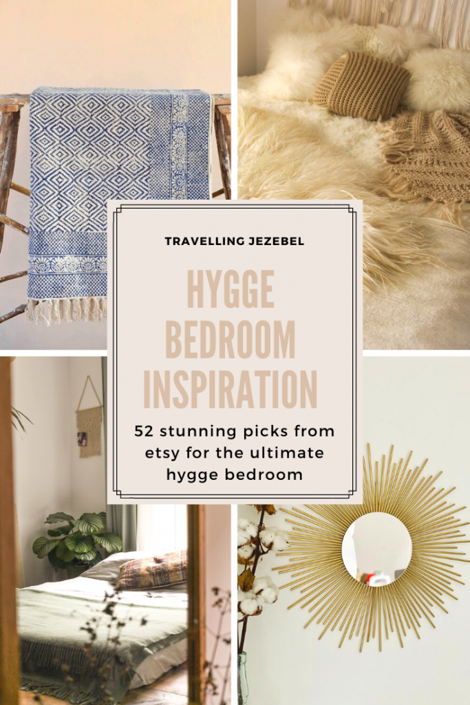 Hygge Bedroom Inspiration   52 Stunning Picks from Etsy for the Ultimate Hygge Bedroom - I rounded up some beautiful items to create the ultimate hygge bedroom. Scented candles, embroidered cushions & knitted throws aplenty make up this list. #hygge #hyggehome #hyggebedroom #bohointerior #bohodecor #homeinspo