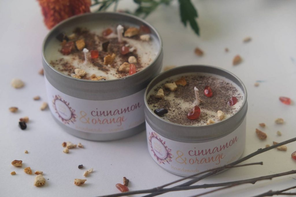 cinnamon and orange soy candles