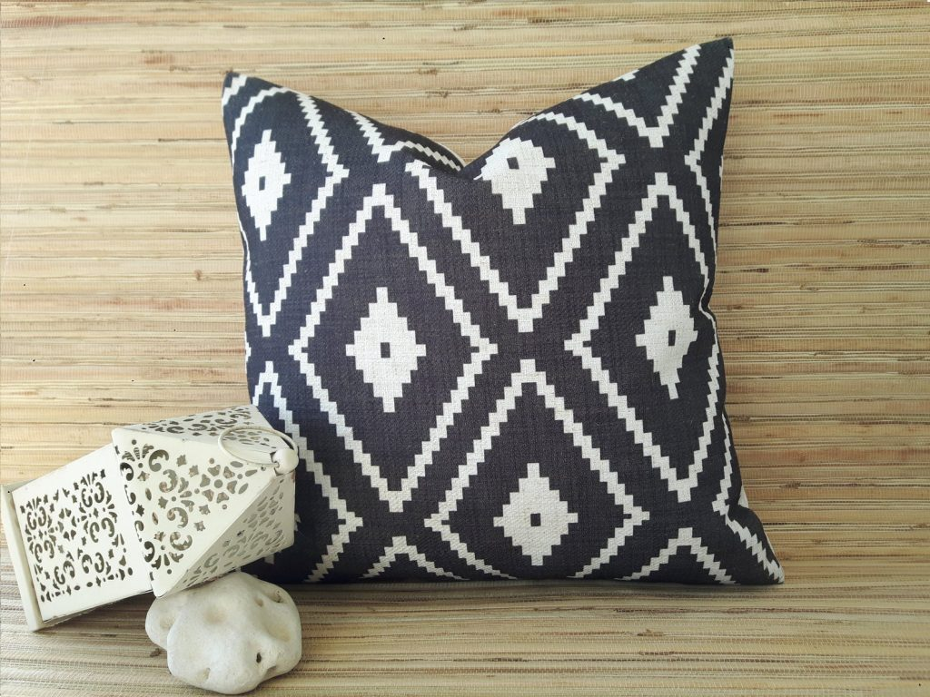 waterproof cushion with aztec print