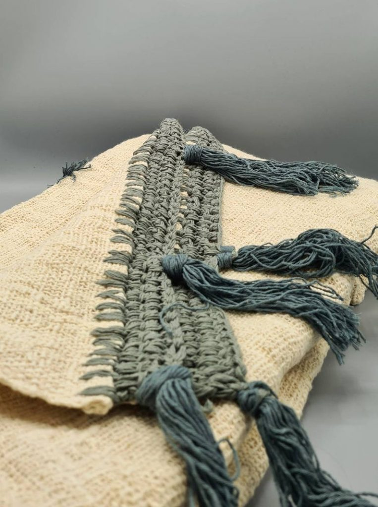 handmade blanket from recycled cotton