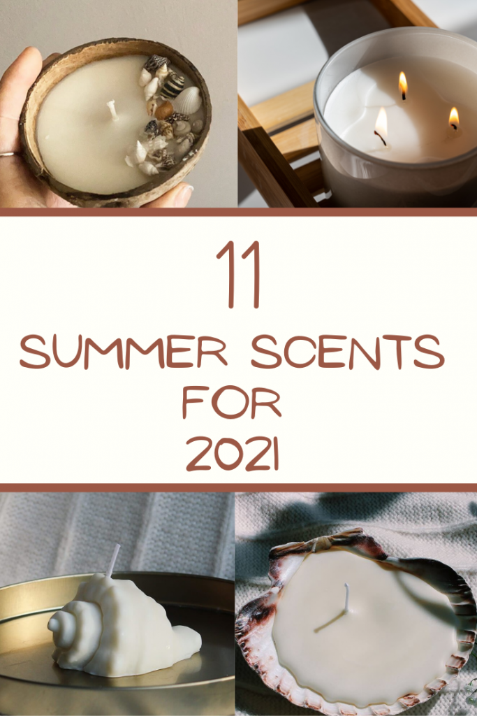 11 Beautiful Summery Scents for 2021 - Candles, Diffusers and More - With the warm weather finally here, it's time to put away your pumpkin spice scents and start shopping around for some more summery scents for your home. With travel still very limited, it's more important than ever that we transform our homes this summer and turn them into places of relaxation and tranquillity. Here are the best summer candles for 2021. #summercandles #summerscents #summeryscent