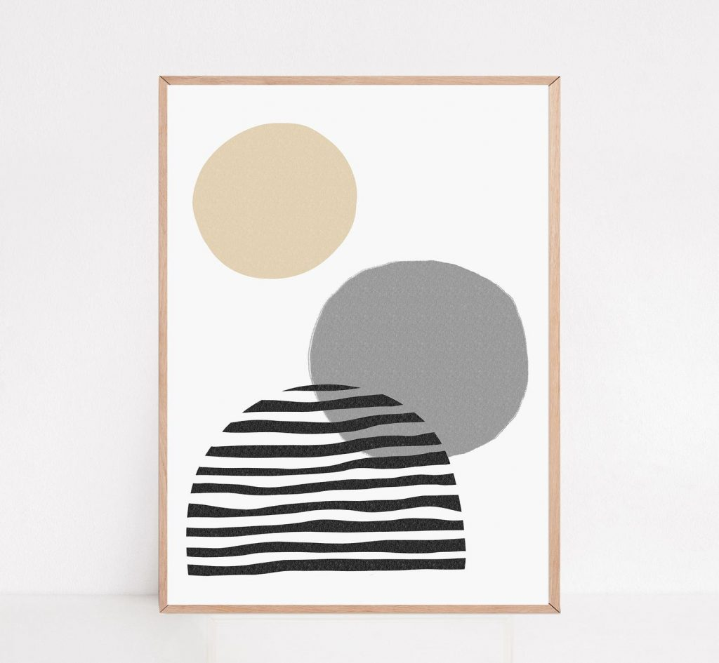 abstract print by cactus and lime etsy