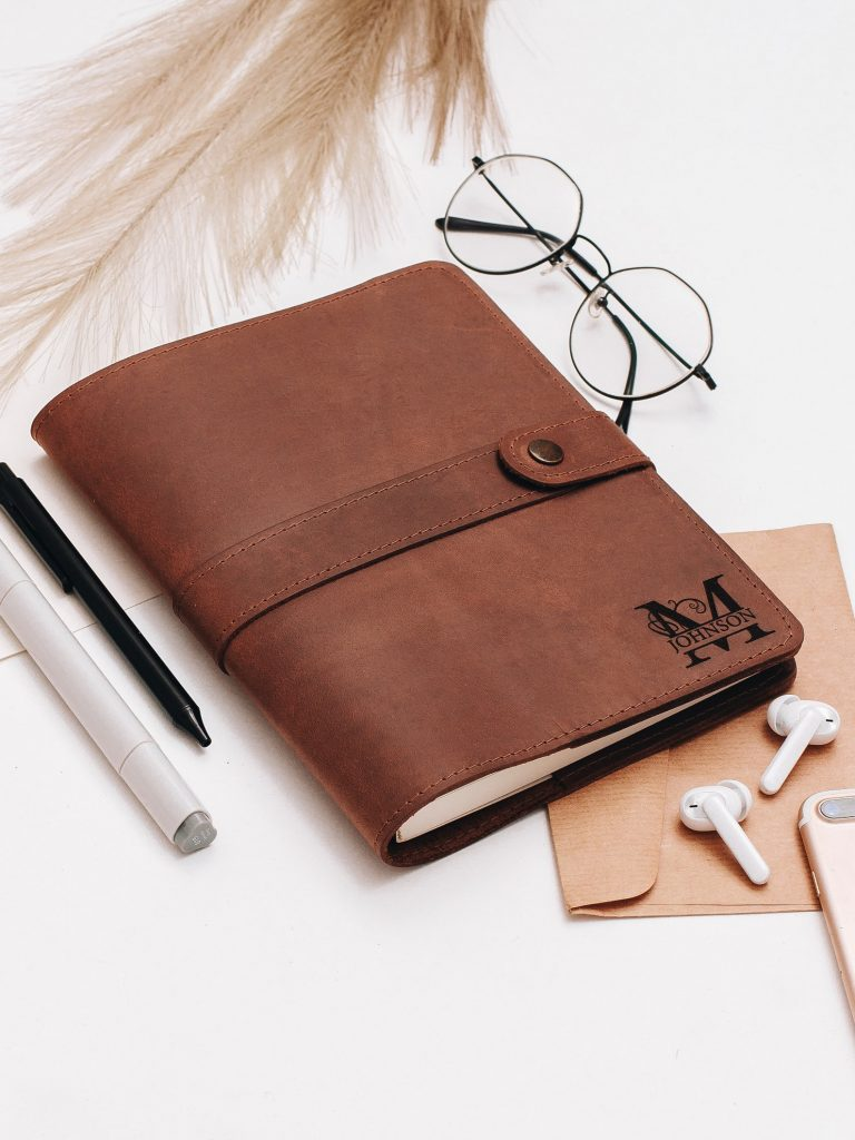etsy leather journal, travel gifts